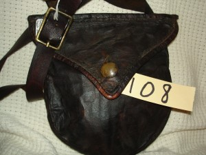 # 108 Possible Bag -Sold to Columbia Pictures.  The hand stitched , hand-made hunting pouches # 108, 109, 110, 111, 112 were sold to Colombia Pictures to be used in the movie The Revenant which came out in 2015 or 2016.  These were the bags I had on hand at the time.