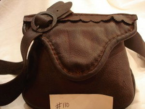bag 110 - Sold to Columbia Pictures. The hand stitched , hand-made hunting pouches # 108, 109, 110, 111, 112 were sold to Colombia Pictures to be used in The Revenant Movie which came out in 2015 or 2016.