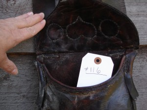 # 116 Possible Bag Hunting Pouch Purple Heart inside view
