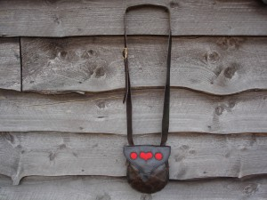 # 117 Possible Bag Hunting Pouch Red Heart