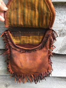 Bag 136 inside with fringes
