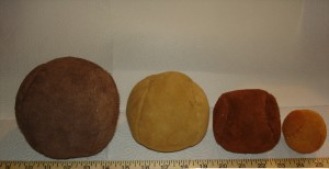 Four Sizes of Hand stitched Leather Balls