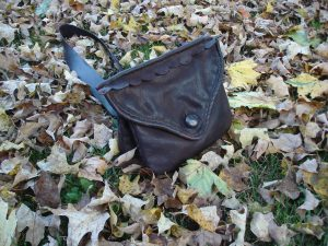 double bag 134 with fall leaves