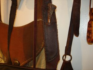 Sold to another satisfied customer Tim Sanner, who ordered my first double hunting pouch, with a knife sheath added.